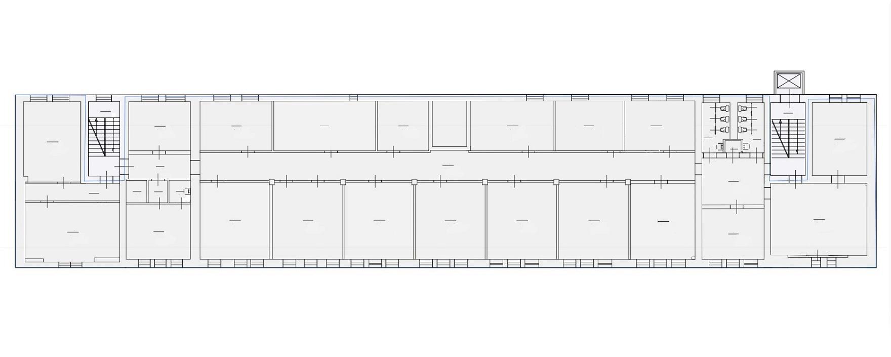 Четвертый этаж Бизнес-Центра ЛюмьерХаус